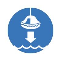 Спустите на воду спасательный плот