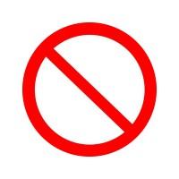 Запрещение( причие опасности или опасные действия)