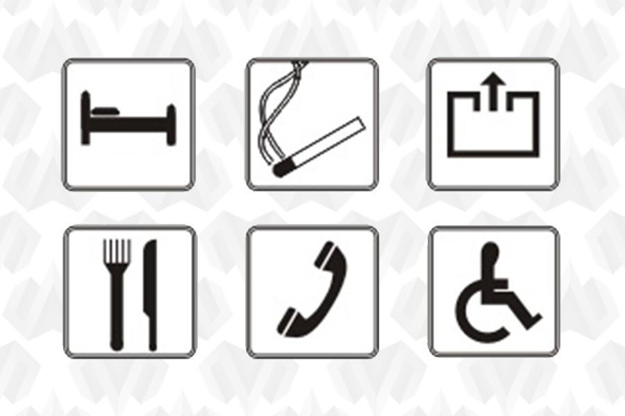 Сервисные и указательные знаки по ОСТ