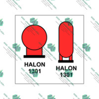 Балоны с галоном 1301  расположенные в защищенном помещении